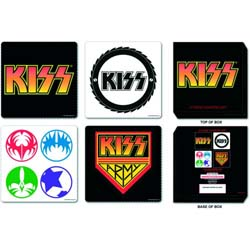 KISS Coaster Set: Mixed Designs