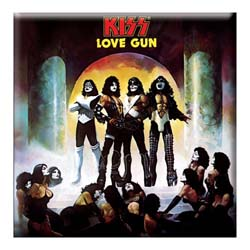 KISS Fridge Magnet: Love Gun Album