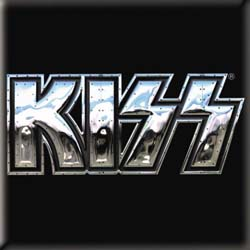 KISS Fridge Magnet: Chrome Logo