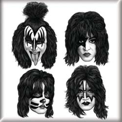 KISS Fridge Magnet: Graphite Faces