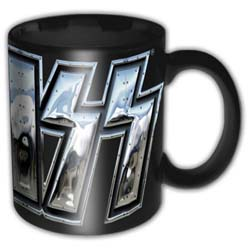 KISS Boxed Standard Mug: Chrome Logo (German Market)