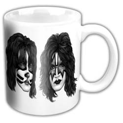 KISS Boxed Standard Mug: Graphite Faces (German Market)