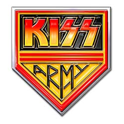 KISS Pin Badge: Army Pennant