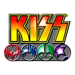 KISS Pin Badge: Logo & Icons