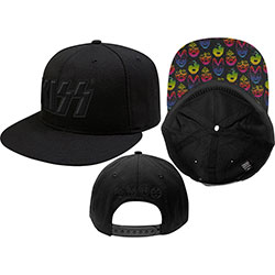 KISS Men's Snapback Cap: Neon Faces
