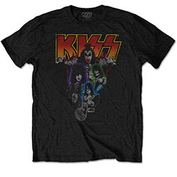 KISS Men's Tee: Neon Band