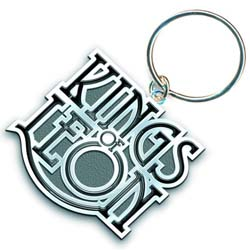 Kings of Leon Keychain: Scroll Logo (Enamel In-fill)