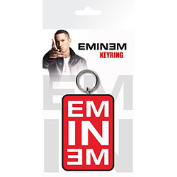 Eminem Keychain: Red Logo (Enamel In-Fill)