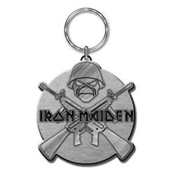 Iron Maiden Keychain: Crossed Guns (Enamel In-fill)
