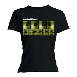 Kanye West Ladies Tee: Gold Digger with Skinny Fitting