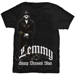 Lemmy Men's Tee: Sharp Dressed Man