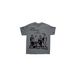 The Libertines Men's Premium Tee: Likely Lads with Puff Print Finishing
