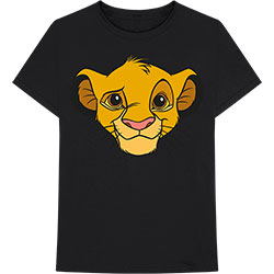 Disney Unisex Tee: Lion King - Simba Face