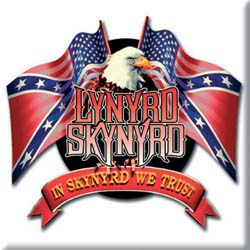 Lynyrd Skynyrd Fridge Magnet: Eagle & Flags