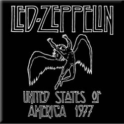 Led Zeppelin Fridge Magnet: 1977 USA Tour