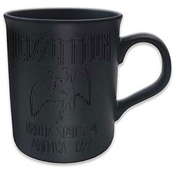 Led Zeppelin Boxed Matt Mug: 77 Tour (Black on Black Matt)
