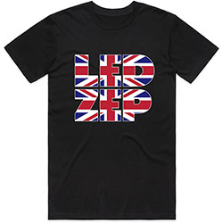 Led Zeppelin Unisex Tee: Union Jack Type
