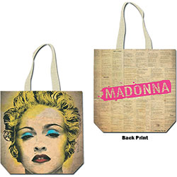 Madonna Cotton Tote Bag: Celebration (with zip top)