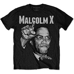 Malcolm X Men's Tee: Pointing