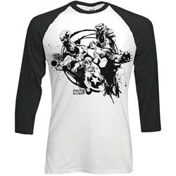 Marvel Comics Men's Raglan Tee: Mono Chaos