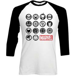 Marvel Comics Men's Raglan Tee: Marvel Icons