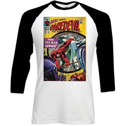 Marvel Comics Men's Raglan Tee: Dare-devil Comic