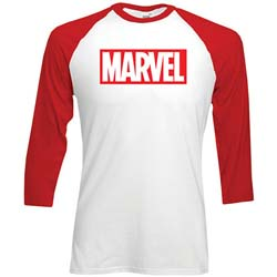 Marvel Comics Men's Raglan Tee: Marvel Logo
