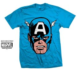 Marvel Comics Unisex Tee: Captain America Big Head