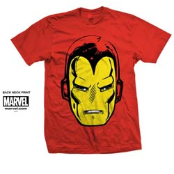 Marvel Comics Unisex Tee: Iron Man Big Head