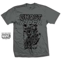 Marvel Comics Unisex Tee: Ghost Rider Simple