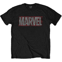 Marvel Comics Unisex Tee: Distressed Box Logo