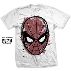 Marvel Comics Unisex Tee: Spidey Big Head Distressed