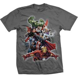 Marvel Comics Men's Tee: Big Group