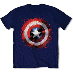 Marvel Comics Unisex Tee: Captain America Splat Shield