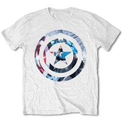 Marvel Comics Unisex Tee: Captain America Knock-out