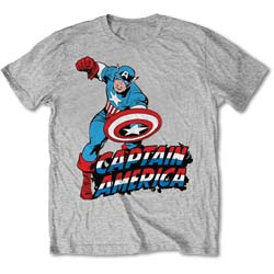 Marvel Comics Unisex Tee: Simple Captain America