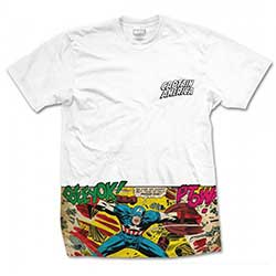 Marvel Comics Men's Tee: Captain America Comic Strip Pocket (Sublimation Print)