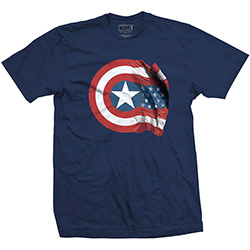 Marvel Comics Unisex Tee: Captain America American Shield