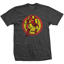 Marvel Comics Unisex Tee: Iron Man Dual