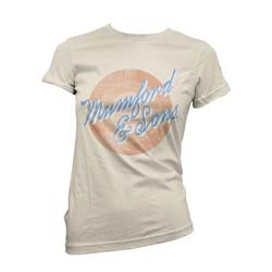 Mumford & Sons Ladies Tee: Sun Script with Skinny Fitting