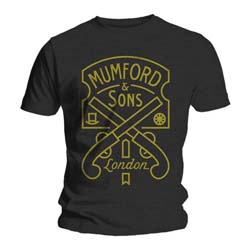 Mumford & Sons Men's Tee: Pistol Label