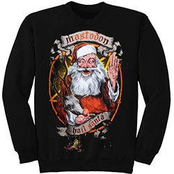 Mastodon Unisex Sweatshirt: Hail Santa Holiday