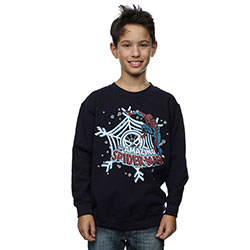 Marvel Comics Kids Boy's Fit Sweatshirt: Spider-Man Christmas