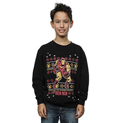 Marvel Comics Kids Boy's Fit Sweatshirt: Iron Man Fair Isle
