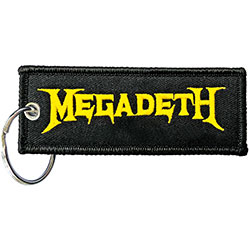 Megadeth Keychain: Logo (Double Sided Patch)