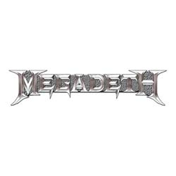 Megadeth Pin Badge: Chrome Logo