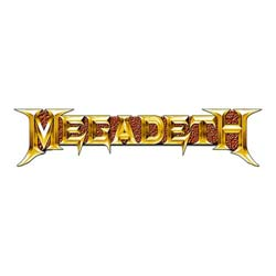 Megadeth Pin Badge: Gold Logo