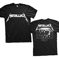 Metallica Unisex Tee: Master of Puppets Photo (Back Print)