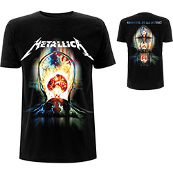 Metallica Unisex Tee: Exploded (Back Print)