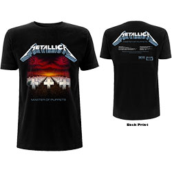 Metallica Unisex Tee: Master of Puppets Tracks (Back Print)